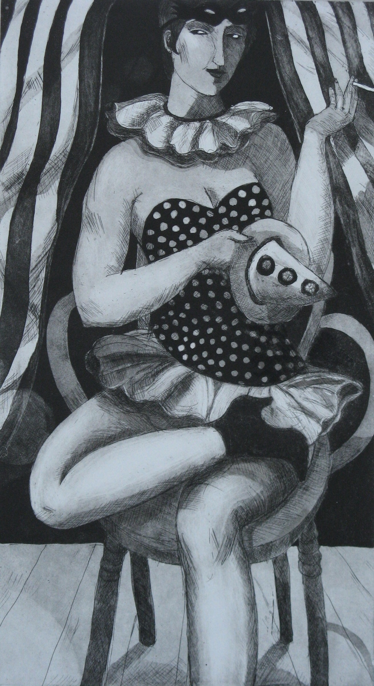 Artwork - Cabaret  Etching and Aquatint Print | Sandra Millar -  Etching and Aquatint