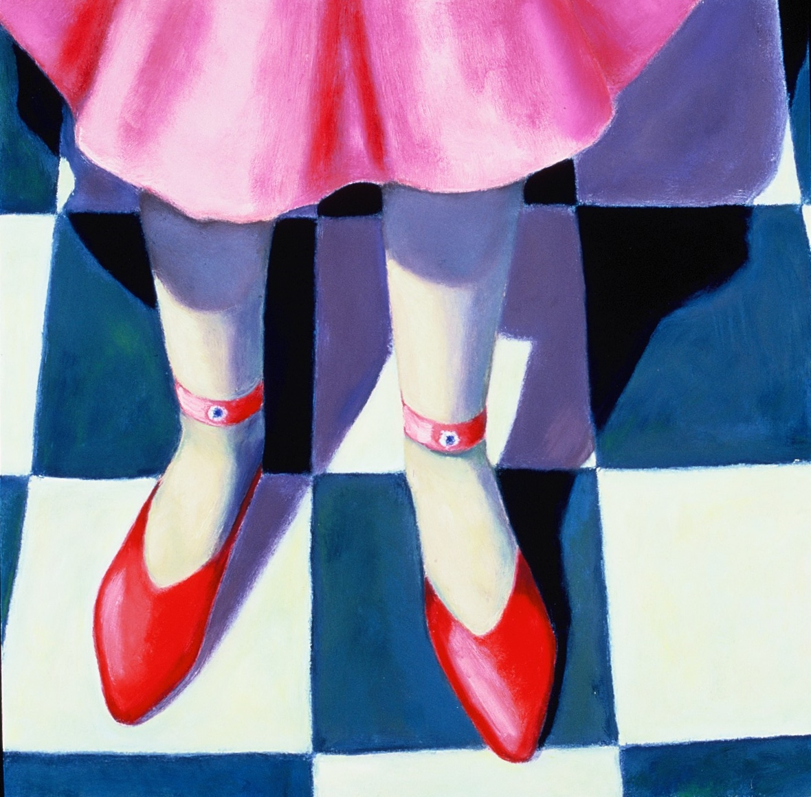 Artwork - Party Shoes Oil on Board Painting | Sandra Millar - Oil on Board